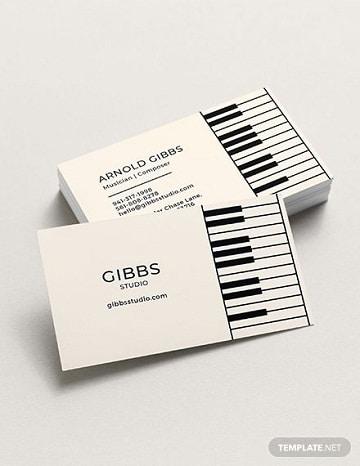 tarjetas de presentacion de bandas sencillas