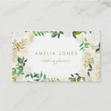 tarjetas de presentacion de flores marcos