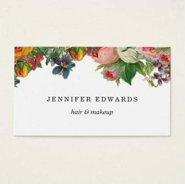 tarjetas de presentacion de flores plantilla