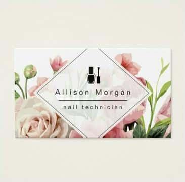 tarjetas de presentacion de flores rosas