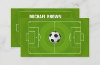 tarjetas de presentacion de futbol originales