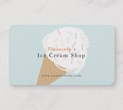 tarjetas de presentacion de helados dibujo