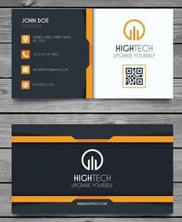 tarjetas de presentacion de informatica elegantes