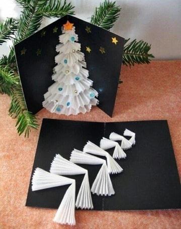 como hacer tarjetas navideñas originales faciles