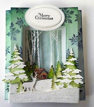 como hacer tarjetas navideñas originales paso a paso