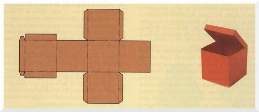 como hacer un cubo de carton facil