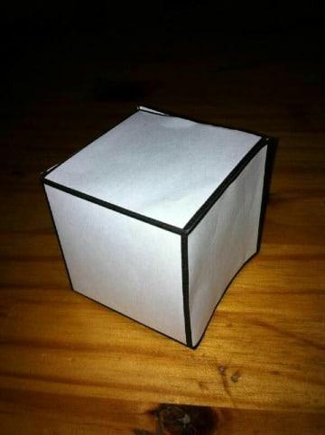 como hacer un cubo de carton sencillo