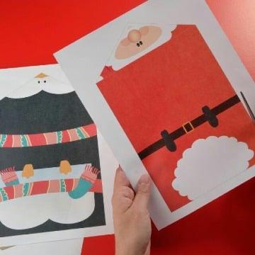 como hacer una carta de navidad sencilla
