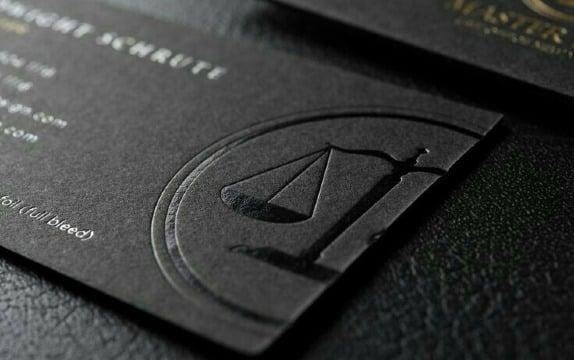 diseños de tarjetas de presentacion abogados