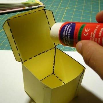 imagenes de como hacer un cubo de carton