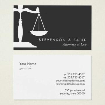 modelos de tarjetas de presentacion abogados