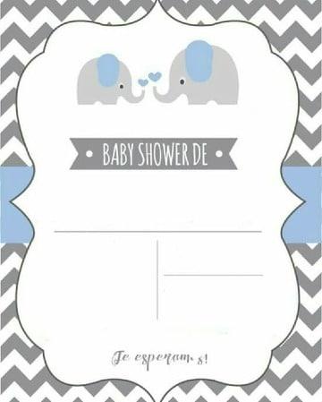 modelos de tarjetas para baby shower niño