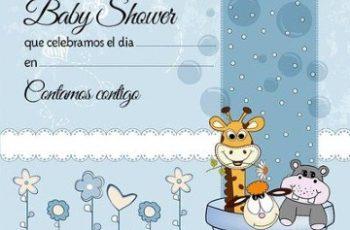 modelos de tarjetas para baby shower para editar
