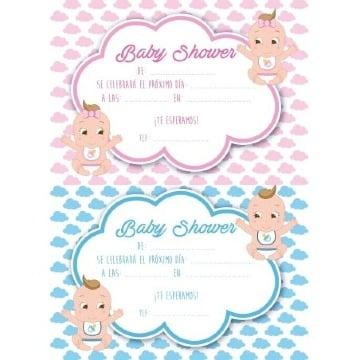 modelos de tarjetas para baby shower para imprimir