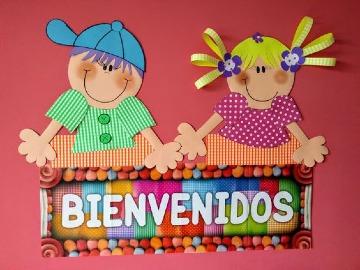 carteles de bienvenida para niños pequeños