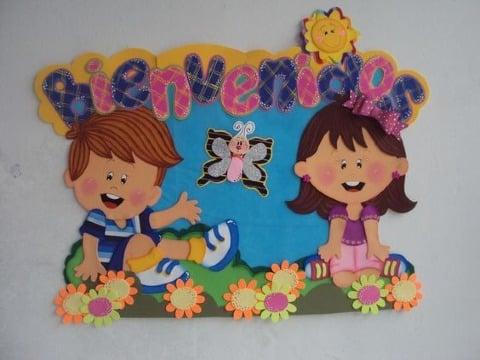 como hacer carteles de bienvenida para niños