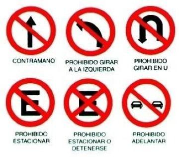 dibujos de señales de transito gratis