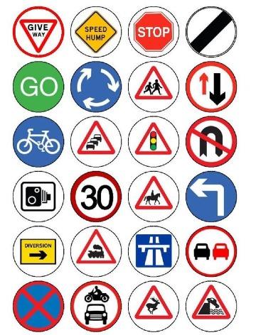 dibujos de señales de transito para imprimir