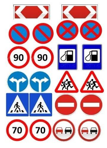 dibujos de señales de transito para niños