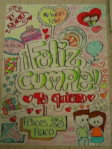 imagenes de carteles de cumpleaños para mi novio