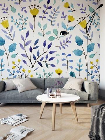 papel decorativo para pared de sala