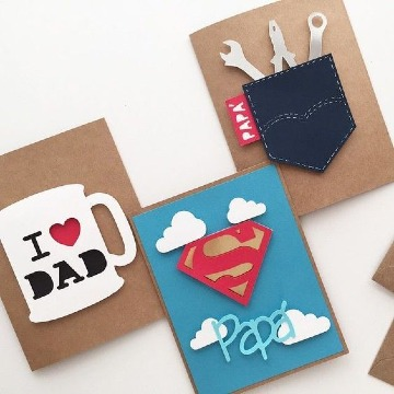 tarjetas hechas a mano para papa