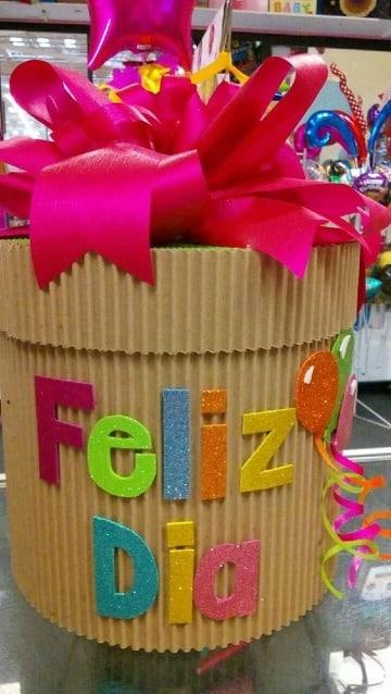 como decorar cajas de carton corrugado para