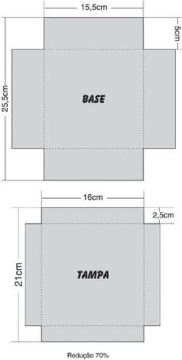 como hacer moldes de cajas cuadradas