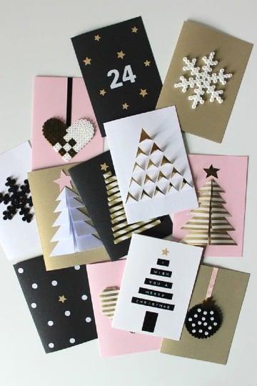 diseños de tarjetas de invitacion navideñas