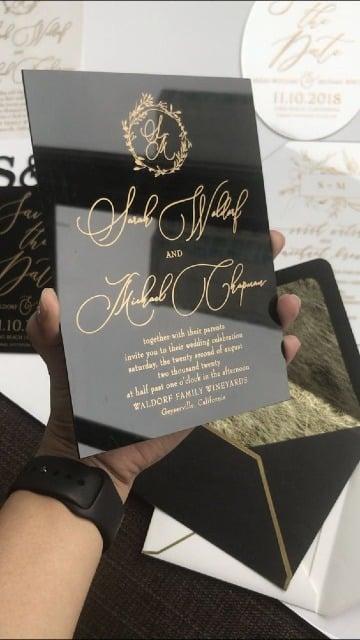 elegantes modelos de invitaciones de boda