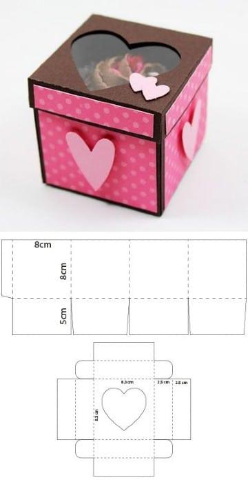 imagenes de moldes de cajas cuadradas