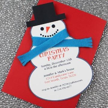 imagenes de tarjetas de invitacion navideñas