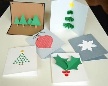 inagenes de tarjetas navideñas hechas a mano