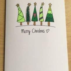 modelos de tarjetas navideñas hechas a mano