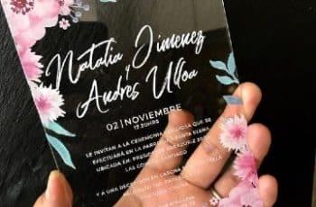 modernos modelos de invitaciones de boda