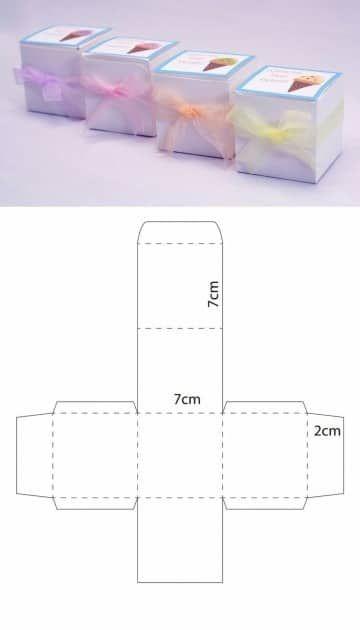 moldes de cajas cuadradas paso a paso