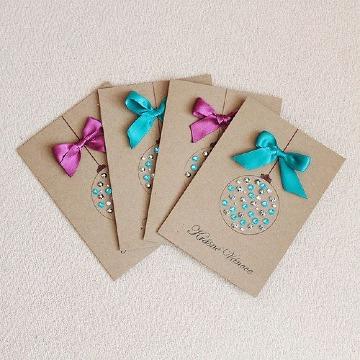 tarjetas de invitacion navideñas sencillas