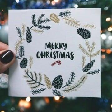 tarjetas navideñas hechas a mano facil