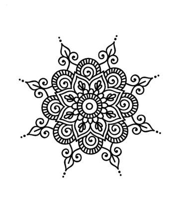 dibujos de mandalas faciles para colorear