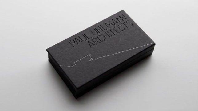 elegantes tarjetas de presentacion arquitectos