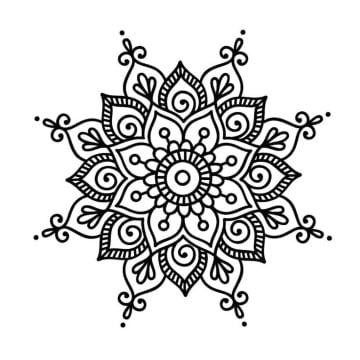 imagenes de dibujos de mandalas faciles