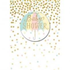 tarjetas para baby shower niño luminosa