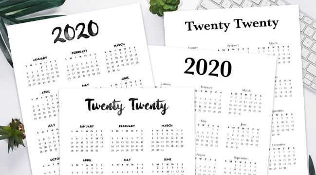 calendario 2020 para imprimir diversidad