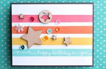como hacer tarjetas de cumpleaños con recortes