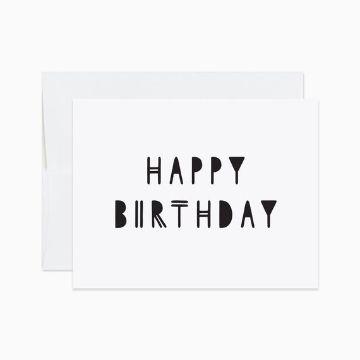 como hacer tarjetas de cumpleaños minimalistas