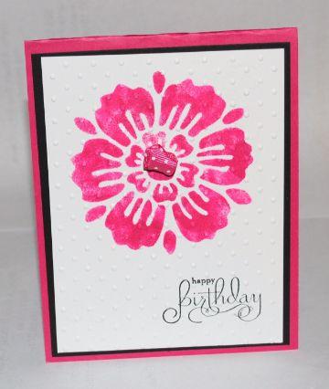 como hacer tarjetas de cumpleaños stencil
