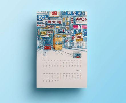 diseño de calendarios creativos dibujos