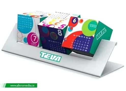diseño de calendarios creativos en 3d