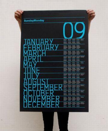 diseño de calendarios creativos para muros