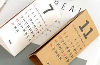diseño de calendarios creativos reciclados